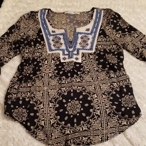 Solitaire boho blouse, small. Beautiful details